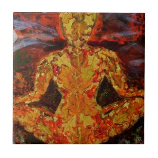 Meditera för lövälva kakelplatta