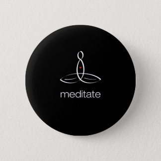 Meditera - vitstamgäststil standard knapp rund 5.7 cm