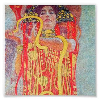medizin av Gustav Klimt, vintagekonst, art déco, Fototryck
