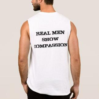 Medkänsla är macho sleeveless t-shirt