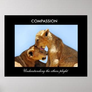 Medkänsla med föräldralösa ungar poster