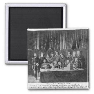 Medlemmar av communen på hotellet de Ville Magnet