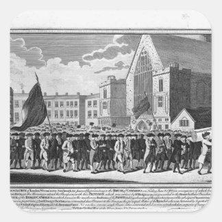 Medlemmar av protestantanslutningen fyrkantigt klistermärke