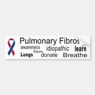 Medvetenhetbildekal för Pulmonary Fibrosis Bildekal