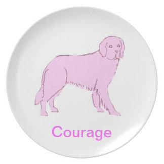 Medvetenheten för cancer för Newfoundland hundkura Tallrik