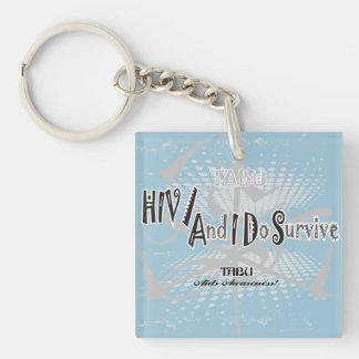 Medvetenhetnyckelring för TABU HIV/Aids