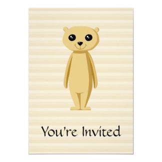 Meerkat. 12,7 X 17,8 Cm Inbjudningskort