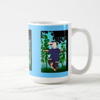 Meerkat dans till och med skogen kaffemugg