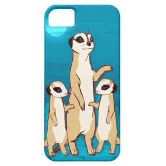 Meerkat familj i månsken iPhone 5 cases