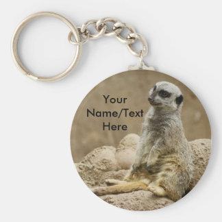 Meerkat keychain rund nyckelring
