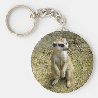 Meerkat Rund Nyckelring