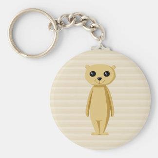 Meerkat. Rund Nyckelring