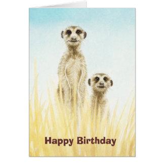 Meerkats födelsedagkort hälsningskort