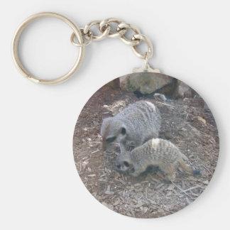 Meerkats Keychain Rund Nyckelring