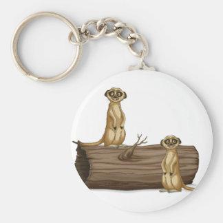 Meerkats Rund Nyckelring