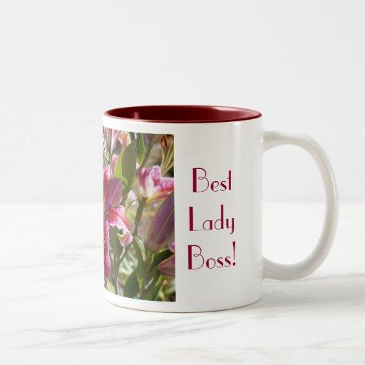 Meery för bäst lilja för damchefkaffe koppar mugg