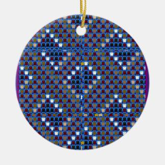 Meeten för NOVINO-strukturmönster hälsar Julgransprydnad Keramik