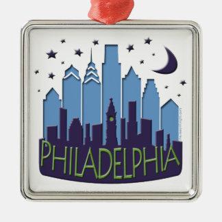 Mega coola för Philly horisont Julgransprydnad Metall