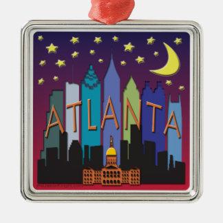 Mega färg för Atlanta horisont Julgransprydnad Metall