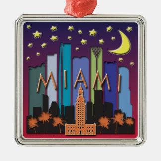 Mega färg för Miami horisont Julgransprydnad Metall