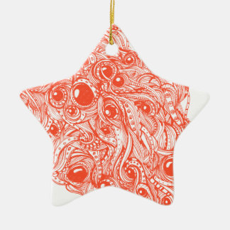 Mega klotter julgransprydnad keramik