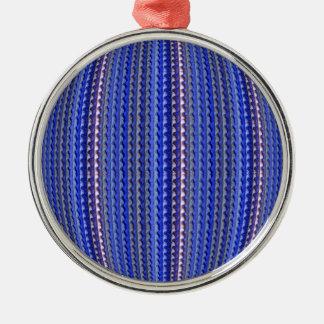 Mega ljus färgrik purpurfärgad geometrisk design julgransprydnad metall
