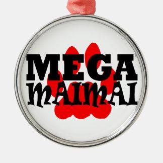 Mega Maimai röd logotyp Julgransprydnad Metall