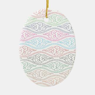 Mega Mendung för motiv full färg Julgransprydnad Keramik