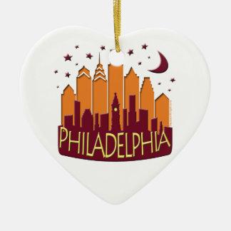 Mega varmt för Philadelphia horisont Julgransprydnad Keramik