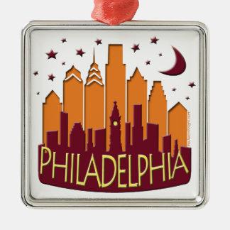Mega varmt för Philadelphia horisont Julgransprydnad Metall