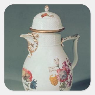 Meissen kaffekruka, c.1740-50 fyrkantigt klistermärke