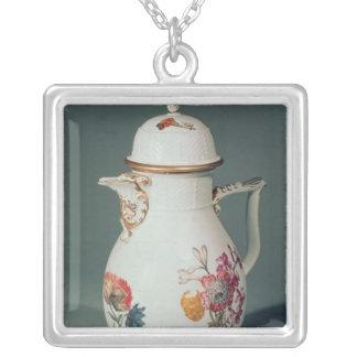 Meissen kaffekruka, c.1740-50 silverpläterat halsband