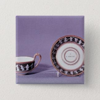 Meissen kopp och saucer, sent 18th århundrade standard kanpp fyrkantig 5.1 cm