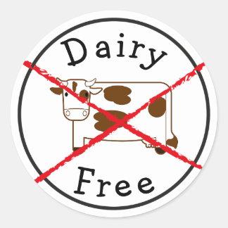 Mejeri frigör ingen mjölk ingen klistermärke för runt klistermärke