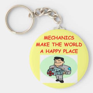 mekaniker rund nyckelring