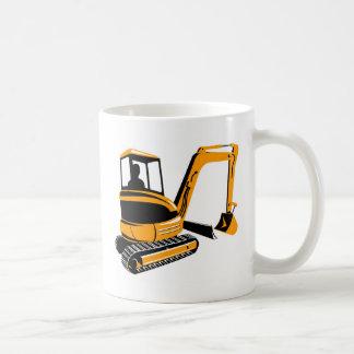 mekanisk grävaregrävskopa kaffemugg