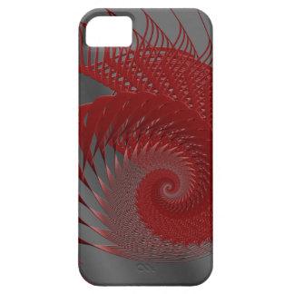 Mekanisk snäcka. Röda och gråa Digital Art. iPhone 5 Cover