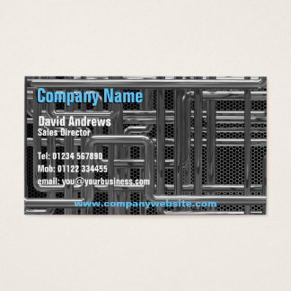 mekaniska rör för krom 3d, teknologi visitkort