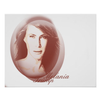 Melania trumf värderar (Matte) affischpapper, Poster