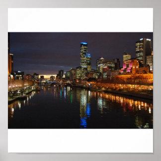 Melbourne aftonhorisont poster