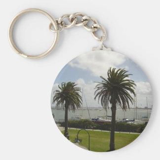 Melbourne Australien Rund Nyckelring