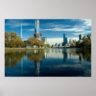 Melbourne reflexion poster