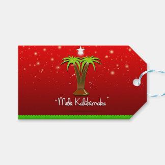 Mele Kalikimaka palmträd för julafton Presentetikett