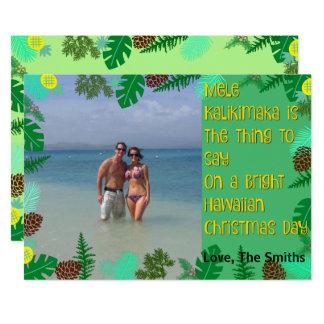 Mele Kalikimaka | tropisk strandjulkort 12,7 X 17,8 Cm Inbjudningskort