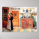 Mellan jul och nya Aco Carl Larsson konst Poster