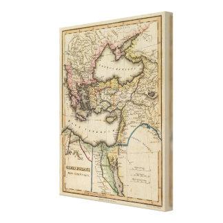 Mellan östernkartbokkarta 2 canvastryck