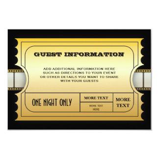 Mellanlägg för biljett för årligt 8,9 x 12,7 cm inbjudningskort