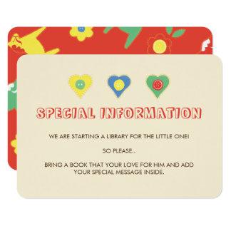 Mellanlägg för information om Lycka kassalåda 8,9 X 12,7 Cm Inbjudningskort