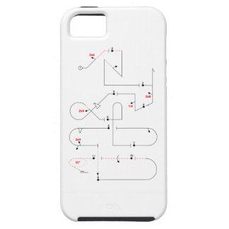 Mellanliggande Aerobatic ordnar 2016 iPhone 5 Case-Mate Fodral