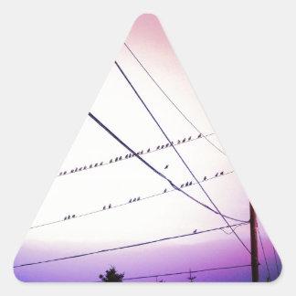 Melodi i himmlen triangelformat klistermärke